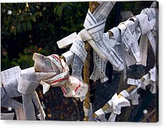 Omikuji Fortune Telling Papers - Kyoto Japan Acrylic Print