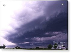 Ominous Clouds Acrylic Print by PainterArtist FIN