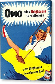Omo 1950s Uk Washing Powder Products Acrylic Print by The Advertising Archives