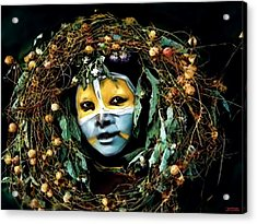 Omo Valley Man With Wreath Acrylic Print