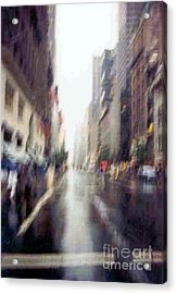 Acrylic Print featuring the photograph On A Clear Day 5th Ave New York by Michael Hoard