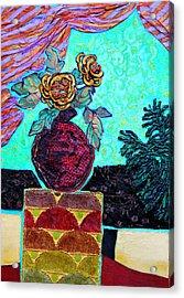 On A Pedestal Acrylic Print by Diane Fine