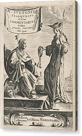 On A Pedestal Is An Emperor On His Throne, Beside A Medusa Acrylic Print