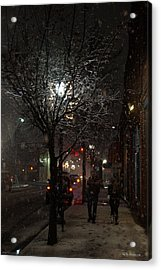 On A Walk In The Snow - Grants Pass Acrylic Print by Mick Anderson
