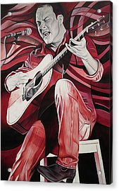 Dave Matthews-on Bended Knees Acrylic Print