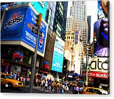On Broadway Acrylic Print by Cleaster Cotton