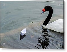 On Converging Course - Featured 3 Acrylic Print by Alexander Senin