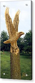 Acrylic Print featuring the digital art On Eagle's Wings by Doug Kreuger