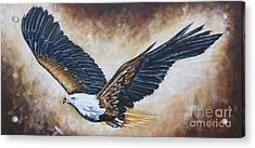On Eagle's Wings Acrylic Print by Ilse Kleyn