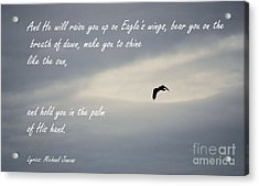 On Eagle's Wings Acrylic Print by Sharon Elliott