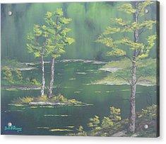 On Emerald Pond Acrylic Print