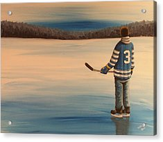 On Frozen Pond -  Winter Classic 2014 Acrylic Print