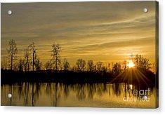 On Golden Pond Acrylic Print by Nick  Boren