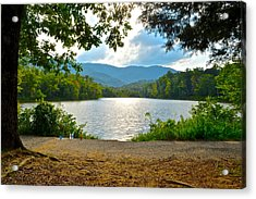 On Golden Pond Acrylic Print by Frozen in Time Fine Art Photography