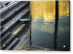 On Golden Pond Acrylic Print by Wayne Sherriff