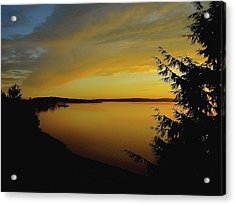 On Golden Puget Sound Acrylic Print