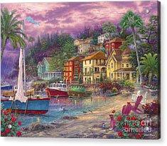 On Golden Shores Acrylic Print