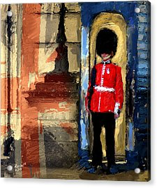 On Guard For Thee Acrylic Print