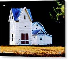 On Hwy B In Ogdensburg Wisconsin Acrylic Print by David Blank