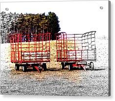 On Hwy B West Of Ogdensburg Acrylic Print by David Blank
