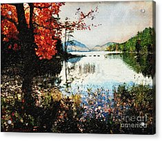 On Jordan Pond Acrylic Print