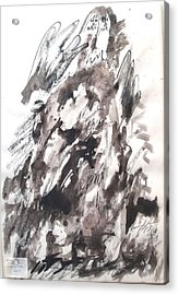 Acrylic Print featuring the painting On Mount Sinai by Esther Newman-Cohen