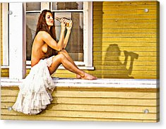 On My Mind Painted Acrylic Print by Naman Imagery