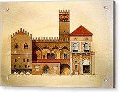 on Piazza Maggiore Acrylic Print