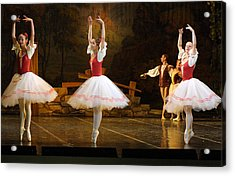 On Point Russian Ballet Acrylic Print by Linda Phelps
