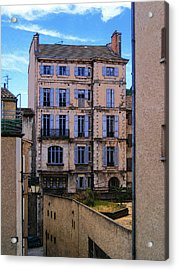 On Rue St. Claire - France Acrylic Print by David Blank