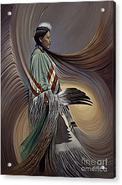 On Sacred Ground Series I Acrylic Print by Ricardo Chavez-Mendez