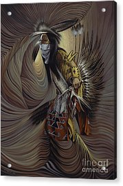 On Sacred Ground Series IIl Acrylic Print by Ricardo Chavez-Mendez
