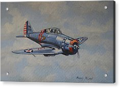 Acrylic Print featuring the painting On Silver Wings by Murray McLeod