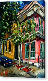 On St. Charles Acrylic Print by Carole Foret