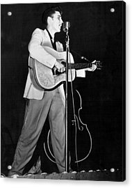 On Stage Elvis Presley Plays And Sings Acrylic Print by Retro Images Archive