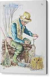 Acrylic Print featuring the painting On Stream by Tony Caviston