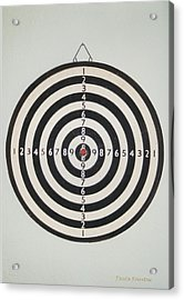 On Target Acrylic Print by Paula Rountree Bischoff
