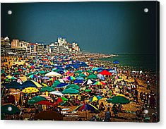 On The Beach In August Acrylic Print