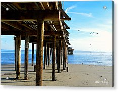 Acrylic Print featuring the photograph On The Beach In Capitola by Alex King