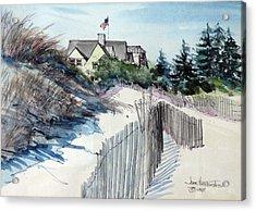 On The Beach Acrylic Print by Joan Hartenstein