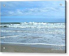 On The Beach Acrylic Print by Kathy Baccari