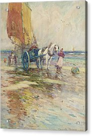On The Beach  Acrylic Print by Oswald Garside