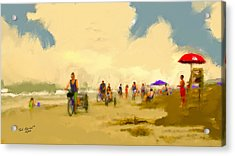 On The Beach Acrylic Print by Ted Azriel