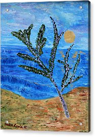 Acrylic Print featuring the painting On The Beach by Vadim Levin