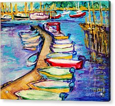 On The Boardwalk Acrylic Print by Helena Bebirian