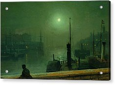 On The Clyde, Glasgow, 1879 Acrylic Print