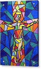 On The Cross Acrylic Print by Matthew Doronila