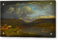 On The Delaware River Acrylic Print