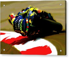 On The Edge Vi Valentino Rossi Acrylic Print