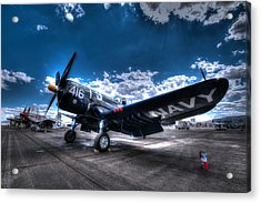 On The Flight Line.  F-4u Corsair At Reno Air Races Acrylic Print